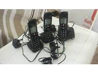 BT 3 Piece Cordless Home Phone Set With Answering Machine
