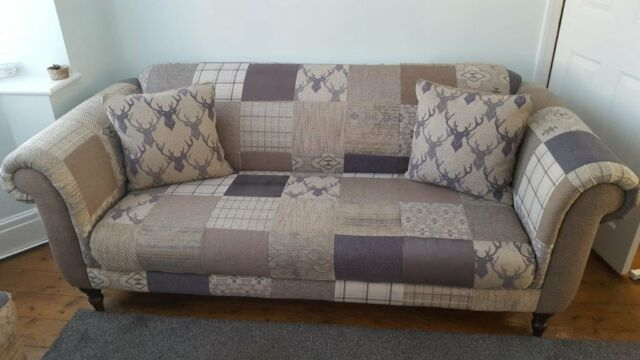 Dfs Maxi Hart Montagu Stag Patchwork 3 Seater Sofa And Two Armchairs Priced Seperately In Shotts North Lanarkshire Gumtree