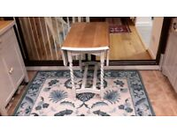 Shabby Chic Folding Kitchen Table Oak with Dove Grey Legs