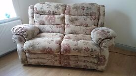 Two seat electric recliner sofa