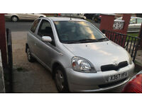 TOYOTA YARIS 1 LITRE 120K LONG MOT STARTS DRIVES £150 X REG V5 AND PREVIOUS MOTS ETC