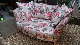 Floral Snuggle large armchair