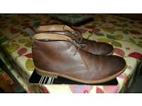 Adult Brown clarke leather boot size 10