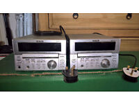 Teac mc-d78 amp units x2 and a pair of gale speakers.