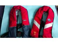 Two Adult Crewsaver Life jackets