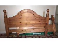 Heavy Solid Pine Bed