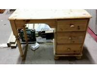 Waxed pine dressing table
