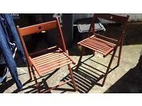 4 dark oak ikea chairs