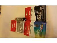 Set of 6 Canon Printer Cartridges CLI- 525's B,G,M,C,Y and black PGI 526
