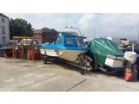 Seahog shortie fishing boat with 45 Honda four stroke