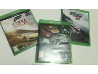 3 Xbox one games The Crew, Forza Horizon 2 & Need For Speed Rivals