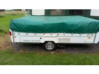Conway Crusader Folding Camper with mover and full awning