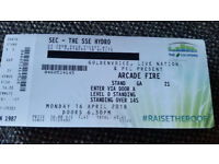 Arcade Fire - Glasgow Hydro - 1 Standing Ticket