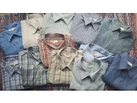 12 x Mens EWM Edinburgh Woolen Mill Shirts Long & Short Sleeved Size XL