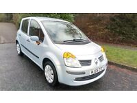 RENAULT MODUS 1.4 OASIS 55 REG IN SILVER WITH ONLY 52,000 MILES AND MOT OCTOBER 2018