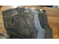 16 pairs ladies jeans