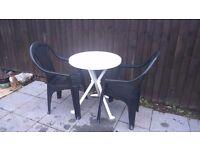 Garden furniture set plus FREE recliner garden chair