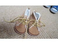 Next brown baby shoes, size 2