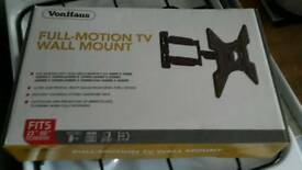 "VONHOUS FULL MOTION TV WALLPAPER MOUNT FITS TVS UP TO 55"""