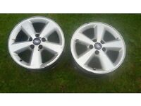 2x focus alloy wheels ideal spare better than space saver or tyre weld