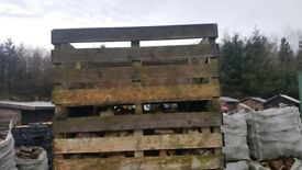 Potatoe crates for drying firewood