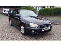 Subaru Impreza 2.0 GX Sport 2003 5 Door Black ***Fantastic Offer***