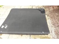 Mitsubishi L200 Double Cab Tri Fold Soft Tonneau Cover in perfect condition complete with brackets