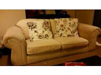 Two seater cream sofa free for collection