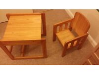 Convertible Wooden High Chair