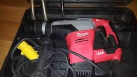 Milwaukee K540s Kango 110V Drill & Breaker Hammer Sds Max