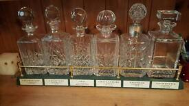 Malt whisky display stand and 6 decanters