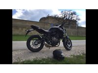 Yamaha MT 07 only 522 miles Yes only 522 miles.