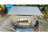 Inset wood burner