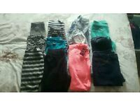12 pairs of girls leggings and trousers