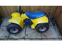 Suzuki lt 50 quad yellow and blue ktm