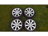 """17"""" BBS alloy wheels with new tyres"""
