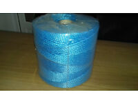 6MM thick blue polypropylene 3 strand Nylon Rope for Garden, decking & general use