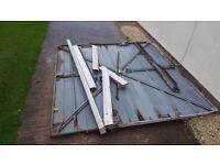 Scrap - metal garage door - free to collector