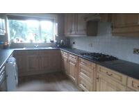 Oak Kitchen. Solid Oak Doors. Cupboards. Drawers. Wall, Base units & Appliances