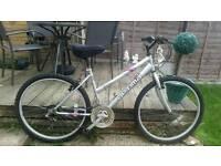 Ladies silver mountain bike
