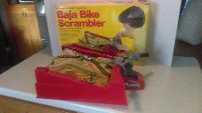 - Vintage Schaper Baja Bike Suzuki Scrambler Motorcycle U-Drive-It Boxed Working