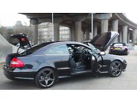 2006 06 MERCEDES CLK 320 CDI SPORT COUPE AMG 7 SPD AUTO DIESEL FSH MOT 03/18(CHEAP PART EX WELCOME)