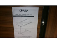 Drive twintop overbed table adjustable medical deluxe