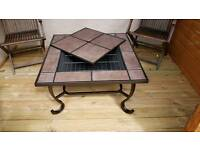 Fire pit bbq table 870mm width 470mm high