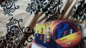 All sorts lights sub wires speakers cd Player