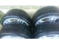 """17"""" momo alloys + tyres cheap"""