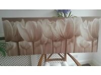 1 Large Wall Art Canvas Picture from IKEA Sepia Tulips Flowers