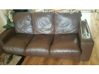 Free Brown leather sofa 2 &3 seater