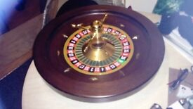 Ex Fun Casino Roulette Wheel - 60 cm mahogany and brass