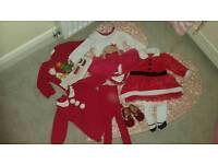 Next, Marks and Spencer and Tesco Baby girl Christmas clothes